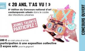 Concours streetart : 20 ans t'as vu ! pour les Vibrations urbaines de Pessac