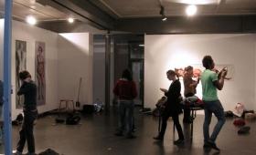 Exposition de travaux de L2, atelier Peinture avec Aurélie Martinez