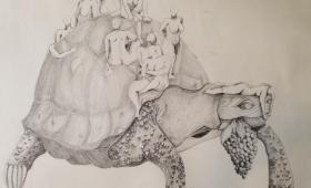 Quelques travaux de l'atelier Dessin / étudiants en L2 Arts plastiques avec Aurélie Martinez