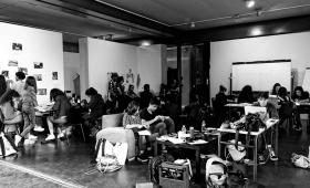 """Des images du workshop des L1 """"Arriver là et en faire quelque chose"""" avec le collectif Monts et Merveilles"""
