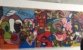 Fresque de l'atelier Peinture des L2