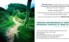 """Soutenance de thèse et exposition : Shantala Lescot – """"Création contemporaine et territoire. Résidences d'artistes et génie du lieu"""""""