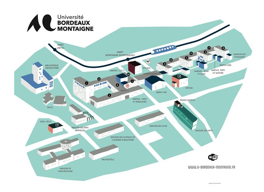 Carte Universite De Bordeaux.Nouveaux Plans De L Universite Bordeaux Montaigne Arts En Fac