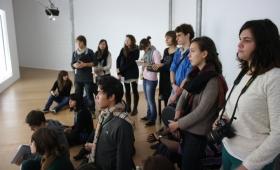 Reportage photo des L1 Arts plastiques au Centre Pompidou mobile